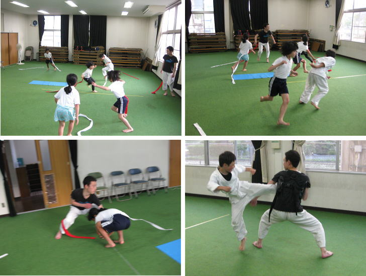 三田空手教室 シッポ取りトレーニング