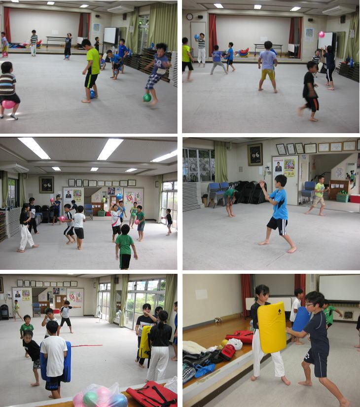 落合空手教室 ボールトレーニング