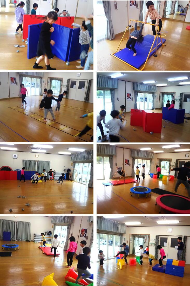 にんじゃとも影の運動遊び教室 2月活動の様子