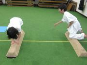 三田空手教室 平均台トレーニング