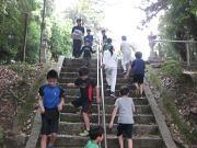 落合空手教室 神社でトレーニング