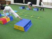 三田空手教室 とび箱トレーニング