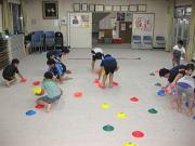 落合空手教室 マーカーコーントレーニング