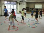 深川空手教室 フープトレーニング