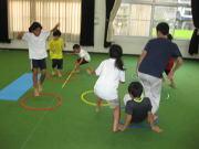 三田空手教室 フープトレーニング