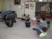 落合空手教室 腹筋トレーニング