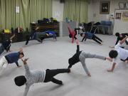 落合空手教室 体幹トレーニング