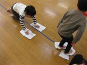 12月 にんじゃ運動あそび教室 水雲の術遊び