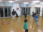 矢口が丘空手教室 フープトレーニング