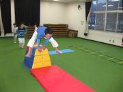 三田空手教室 跳び箱 ラダー トレーニング