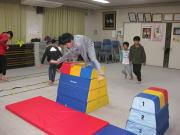 落合空手教室 跳び箱トレーニング