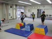 深川空手教室 跳び箱トレーニング