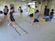 深川空手教室 ラダー+跳び箱トレーニング