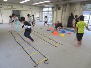 安佐北区 深川 空手教室 小学生 バランストレーニング