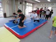 安佐北区 深川 エアトラック トレーニング 空手教室