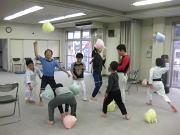 深川空手教室 風船トレーニング