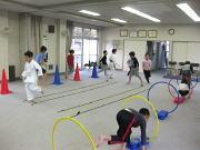 深川空手教室 ラダー フープリングトレーニング