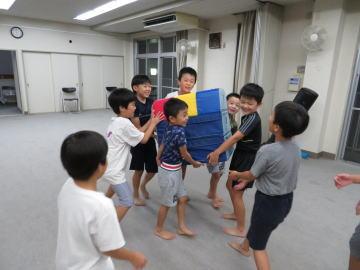 広島 安佐北区 深川 空手教室 小学生クラス お手伝い